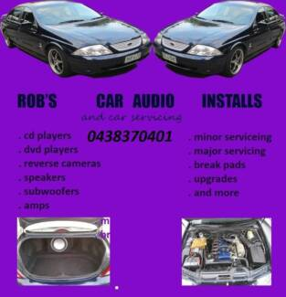 robs Car audio installs and car servicing mobile service