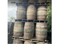 Whiskey barrels ideal for garden bar tables etc