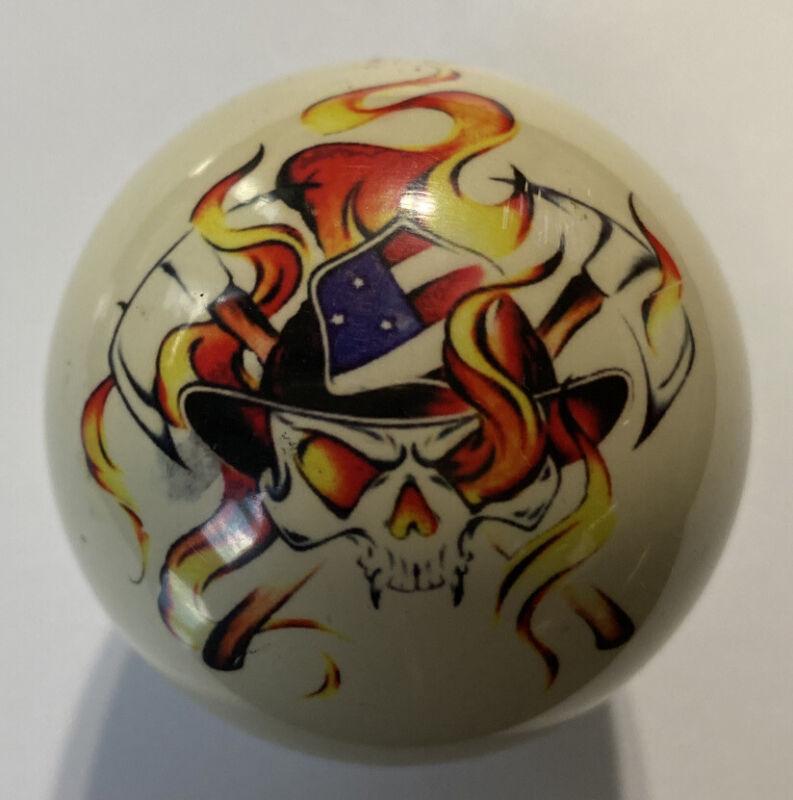 Pool/Billiards Firefighter Skull Custom Cue Ball Great Gift! Unique!