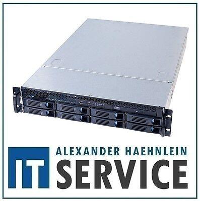 "2HE 19"" Gehäuse Chenbro RM23608 2U Rack Server inkl 6G Backplane 8x HDD 3,5"" NEU"