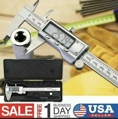 Stainless Steel Digital Caliper Micrometer Electronic Ruler Gauge Meter 6 Inch
