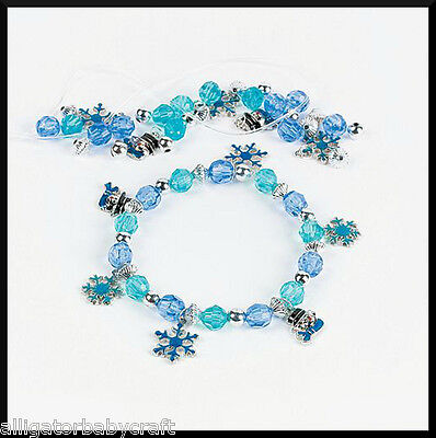 Winter Snowflake Enamel Charm Bracelet Craft Kit for Kids Girls Cute! ABCraft - Winter Crafts For Kids