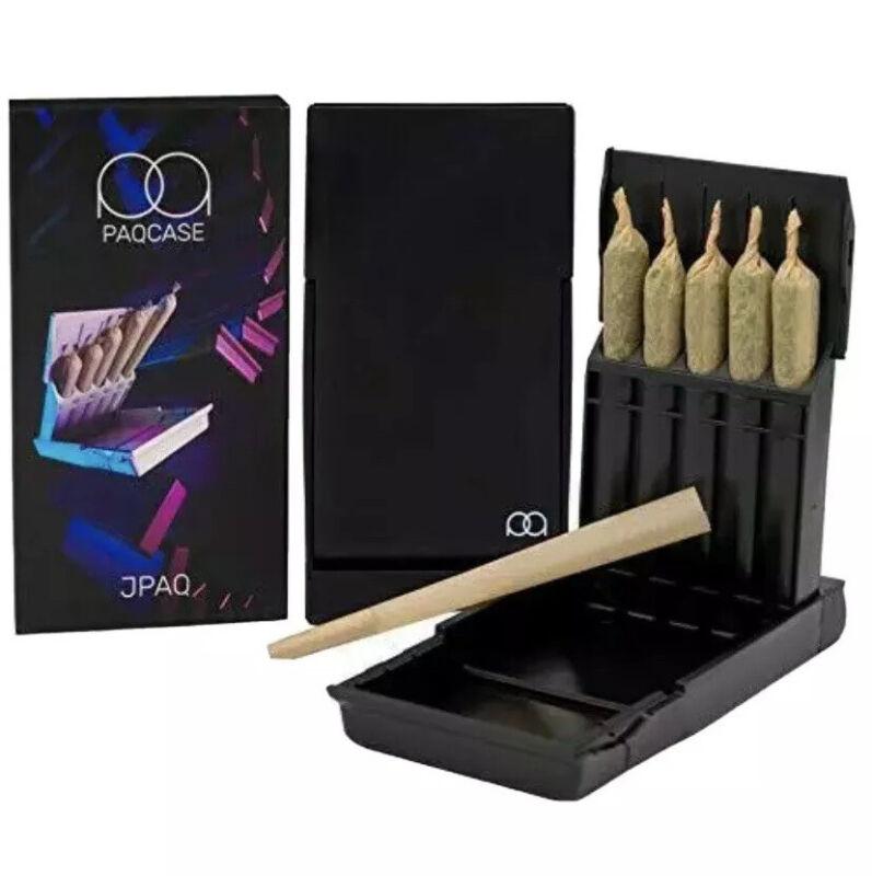 JPAQ Odor Resistant Joint Holder Roach Tube Stash Box Pot Herb Accessories(BLACK