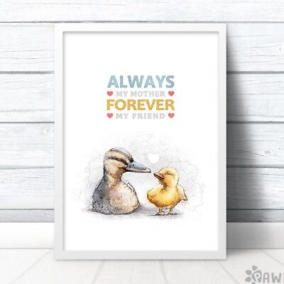 (Duck Print Gift for Mum