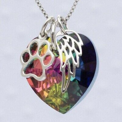 Mystic Topaz Necklace - Handmade Rainbow Mystical Fire Topaz 925 Sterling Silver Pendant Chain Necklace