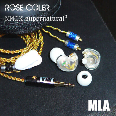 Rose Coler $3,000 mmcx super hi-res earphone 24K gold cable bass headphone