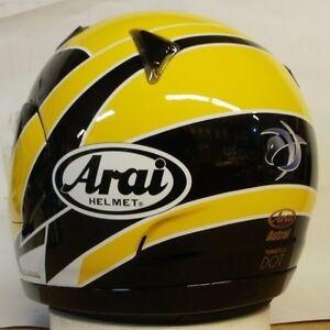 Arai Astral Kenny Roberts Jr Yellow Eagle racer replica motorcycle helmet Med Lg