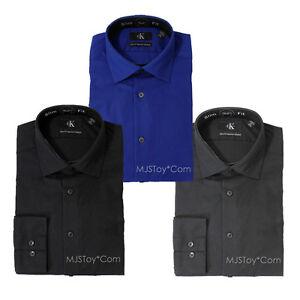 Nwt calvin klein slim fit non iron stretch poplin dress for Calvin klein slim fit stretch shirt