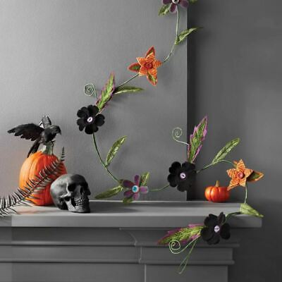 Hyde & EEK! Boutique Halloween Creepy Felt Plants Artificial Swag Garland
