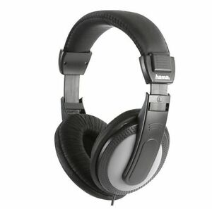 New Hama Over Ear Stereo TV Hi-Fi Headphones 6M Cable With Volume Control