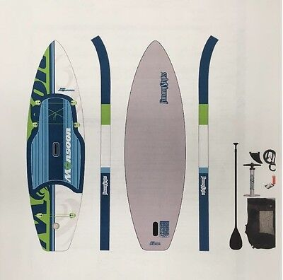 """BRAND NEW Jimmy Styks """"Monsoon"""" Inflatable iSUP Stand Up Paddle Board Package"""