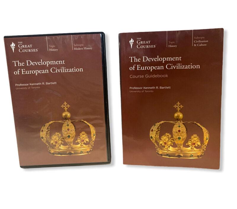 Development Of European Civilization Great Courses 8 DVDs 48 Lectures w/Book
