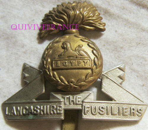 IN18789 - WW1 WW2 The Lancashire Fusiliers Regiment Cape Badge