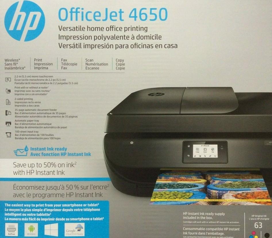 HP Officejet 4650 Inkjet Multifunction Printer - Color - Pla