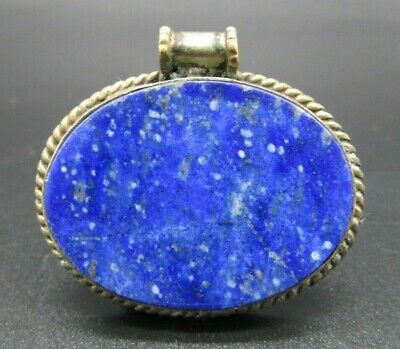 Near Eastern silver lapis lazuli pendant