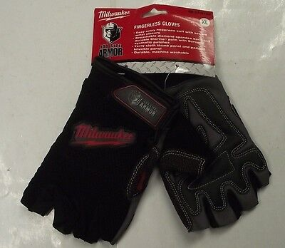 Milwaukee Gloves Fingerless Job Site Armor 49-17-0123 XL