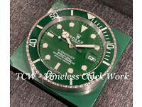 Hulk submariner wall clock