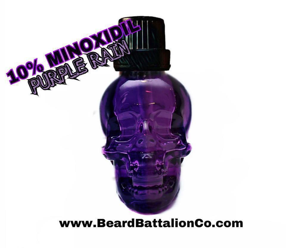Beard Battalion PURPLE RAIN-10% Minoxidil Beard Oil-BEARD GR