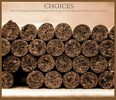 Choose Paper or Canvas POSTER.Cuban cigar.Choices.Man Cave room art decor.q0231