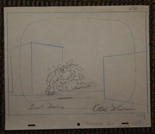 1979 Eastern Airlines Commercial Disney The White Rabbit SIGNED Thomas Johnston