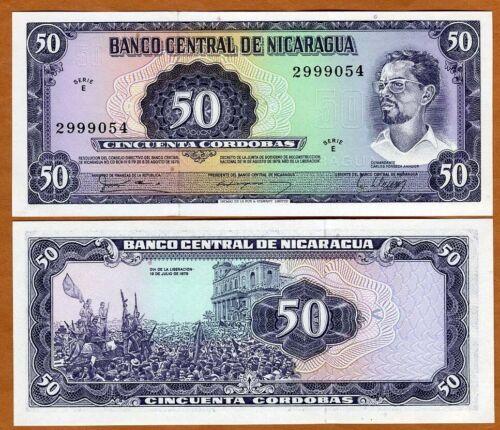 Nicaragua, 50 cordobas, 1979, P-131, E-Serie, UNC