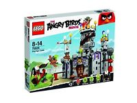 BNIB LEGO angry birds king pigs castle