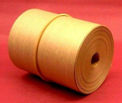 50-foot Reinforced Paper Tape Roll Gummed Brown Kraft Shipping Packaging Sealing