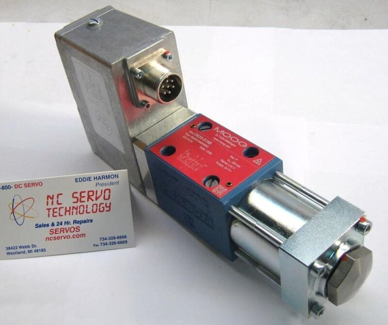 Nib Moog D633-518b Direct Drive Servo Valve 2 Yr Warranty New