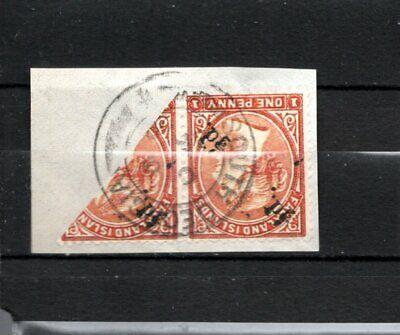 FALKLAND ISLAND 1891 QV SURCHARGED SOUTH GEORGIA USED RARE