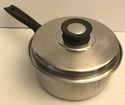 """VOLLRATH 18-8 Stainless Steel Ware 3-Ply Cookware 8"""" Sauce Pan with Lid"""