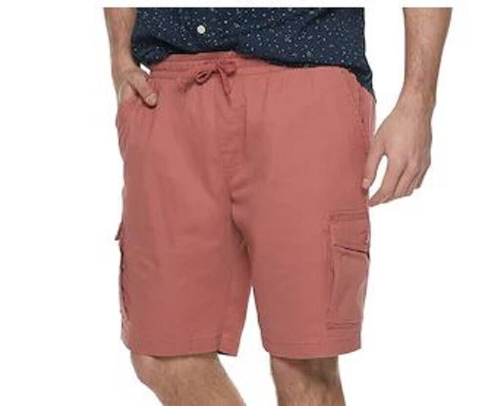 Men's New Big & Tall Faded Red Sonoma Cargo Dock Shorts XLT