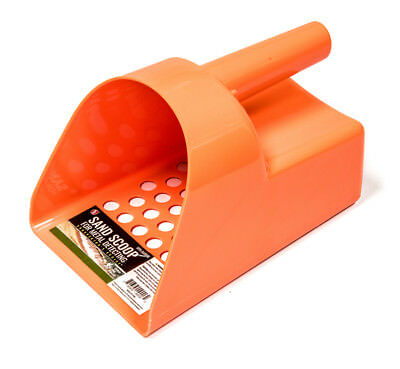 Tough Durable Orange Plastic Metal Detector Scoop Beach-Sand-Gold-Treasure-Rings