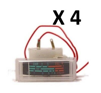 NEW 4 COBRA 29,148, UNIDEN 76,78 CB RADIO S RF WITH SWR POWER REPLACEMENT METER
