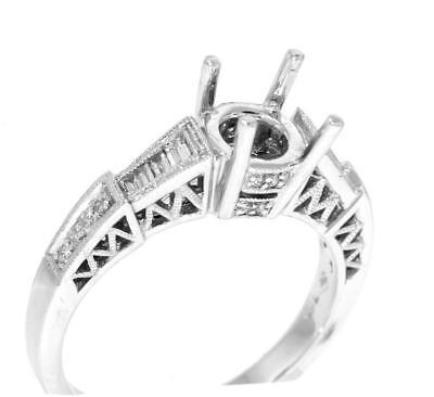 - Diamond Engagement Ring Setting 0.32ct VS1 18k White Gold