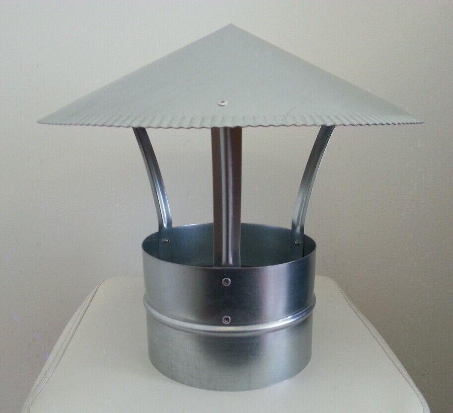 Regenhut 120mm Schornsteinabdeckung  Ø Regenhaube für Ihre Wochenend-Häuser