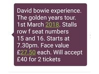 david bowie experience the golden years