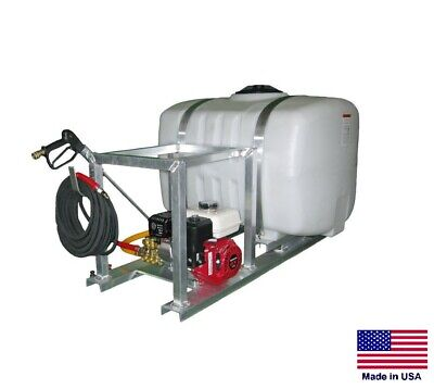 Pressure Washer Commercial - Skid Mounted - 3 Gpm - 2500 Psi - 50 Gallon Tank