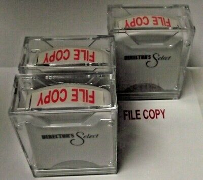 Global Agi-ss02030 Rectangle Stock Pre-inked Rubber Stamp With File Copy 3pcs.