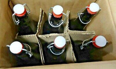 Ilyapa Vintage Style 16oz Amber Glass Beer Bottles for Home Brewing - 6 Pack New (Glass Amber Beer Bottles)
