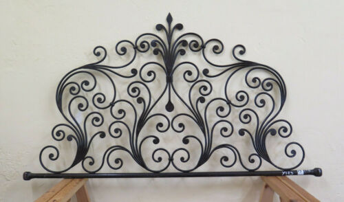 Bed Header for Bed 50 3/8in Wrought Iron a Tail Peacock Headboard Vintage 19