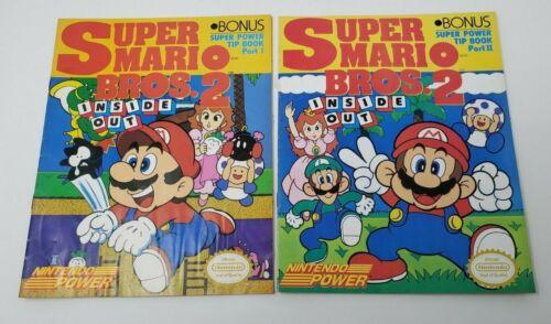 Vintage Super Mario Bros 2 Inside Out Nintendo Power Part 1 & 2