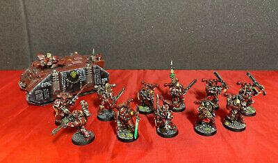 Word Bearers Chaos Space Marine Army Lot ~ Warhammer 40K Rhino, CSM Kill Team