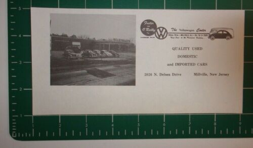 1961 The Volkswagen Center - Foster and Reilly Advertisement Millville, NJ
