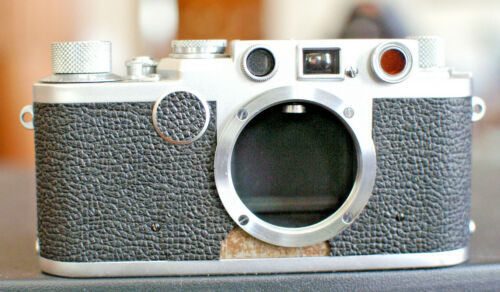 Leica IIf Red Dial Camera Body Speeds to 1/1000 Second