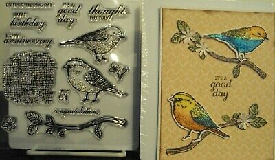 Unbranded DIES 9 & STAMPS A VARIETY''13'' BIRDS & SENTIMENTS **WHAT A BARGAIN **
