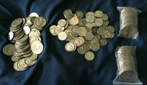 $1 FACE VALUE 90% US SILVER COINS JUNK SILVER FREE SHIPPING QUARTER DIME HALF