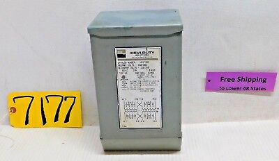 Egs Hevi-duty Electrical Transformer Hsif Ibs 60 Hz.primary Volts 240480