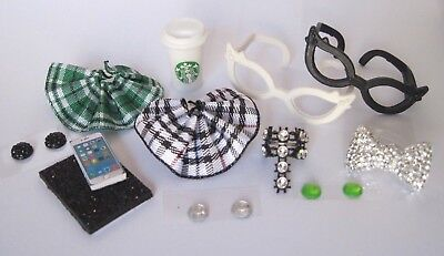 Littlest Pet Shop LPS 12 PC Clothes NERD Accessories Custom Skirts Bow Glasses  - Nerd Clothes
