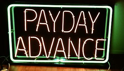 None Beer Sign...nice Neon Payday Advance Sign For Your Business. Have Six More