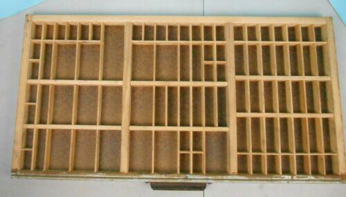 "Vintage Hamilton Printer Typeset Drawer Letterpress Shadow Box 32"" x 16"""